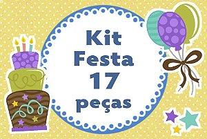 Kit personalizado no tema que desejar com 17 peças