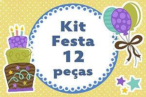 Kit personalizado no tema que desejar com 12 peças