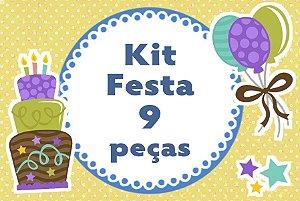 Kit personalizado no tema que desejar com 9 peças
