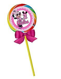 Arte para pirulito personalizado Minnie