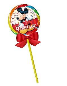 Arte para pirulito personalizado Mickey