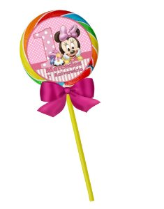 Arte para pirulito personalizado Baby Disney