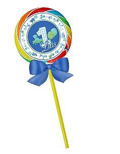 Arte para pirulito personalizado 1º aniversário brinquedos menino