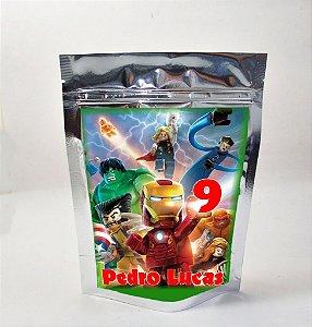 Arte para sacola metalizada Lego Vingadores
