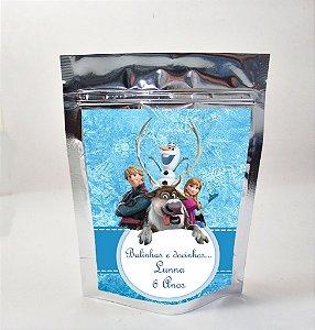 Arte para sacola metalizada Frozen