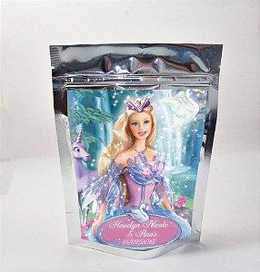 Arte para sacola metalizada Barbie