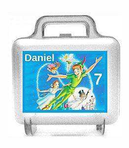 Arte personalizada para maletinha quadrada Peter Pan