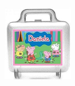 Arte personalizada para maletinha quadrada Peppa Pig
