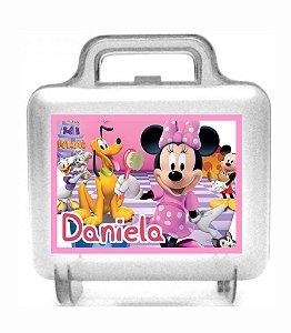 Arte personalizada para maletinha quadrada Minnie