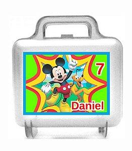 Arte personalizada para maletinha quadrada Mickey