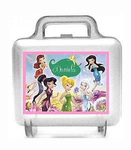 Arte personalizada para maletinha quadrada Fadas Disney