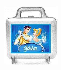 Arte personalizada para maletinha quadrada Cinderela