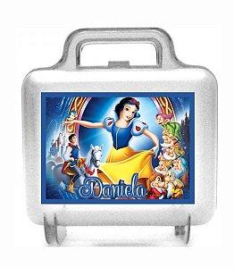 Arte personalizada para maletinha quadrada Branca de Neve