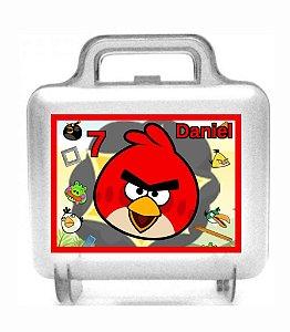 Arte personalizada para maletinha quadrada Angry Birds personalizada