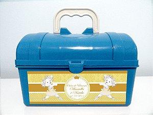 Arte personalizada para maletinha ursinha dançarina para meninos