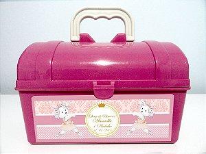 Arte personalizada para maletinha ursinha dançarina para meninas