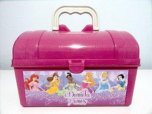 Arte personalizada para maletinha Princesas Disney