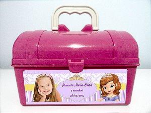 Arte personalizada para maletinha Princesa Sofia