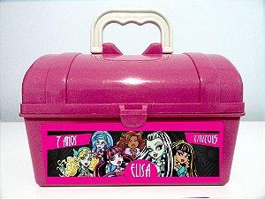 Arte personalizada para maletinha Monster High para meninas