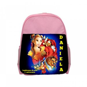 Arte para mochila personalizada A Bela e a Fera