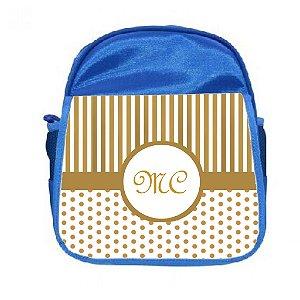 Arte para mochila personalizada monograma menino