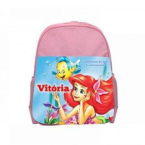 Arte para mochila personalizada Pequena Sereia