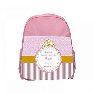 Arte para mochila personalizada Princesa 1 ano
