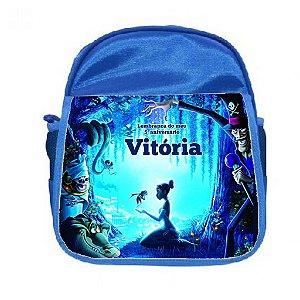 Arte para mochila personalizada A Prinsesa e o Sapo