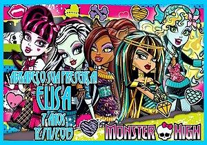 Arte para cartão de agradecimento Monster High menino