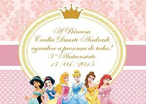 Arte para cartão de agradecimento Princesas Disney