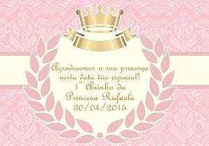 Arte para cartão de agradecimento Princesa