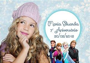 Arte para cartão de agradecimento Frozen com foto
