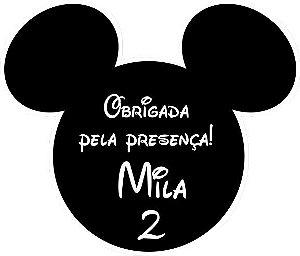 Arte para cartão de agradecimento recortado Mickey