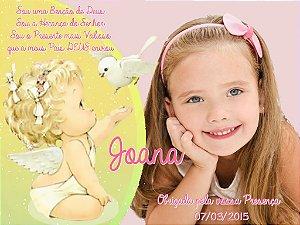Arte para cartão de agradecimento Anjos com foto