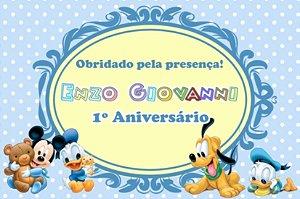 Arte para cartão de agradecimento Baby Disney