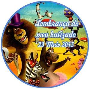 Arte para cartão de agradecimento Madagáscar