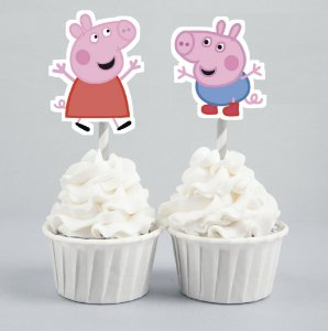 Arte para conjunto 2 toppers recortados para doces Peppa Pig