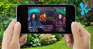 Convite digital personalizado Descendentes 002