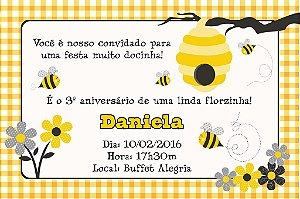 Convite digital personalizado Abelhas 008