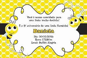 Convite digital personalizado Abelhas 010