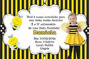 Convite digital personalizado Abelhas com foto 010