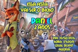 Convite digital personalizado Zootopia 006