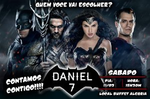 Convite digital personalizado Batman Vs Superman 002