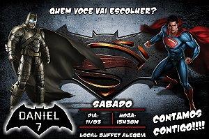 Convite digital personalizado Batman Vs Superman 003
