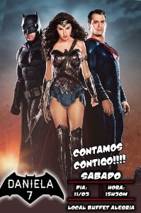 Convite digital personalizado Batman Vs Superman 004