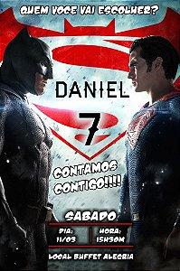 Convite digital personalizado Batman Vs Superman 005