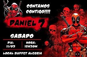 Convite digital personalizado Deadpool 002