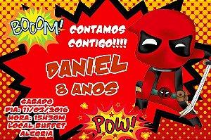 Convite digital personalizado Deadpool 003