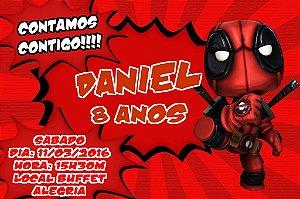 Convite digital personalizado Deadpool 004