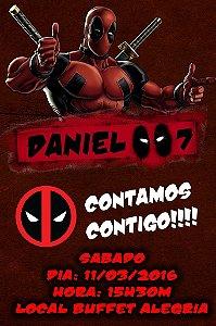 Convite digital personalizado Deadpool 008